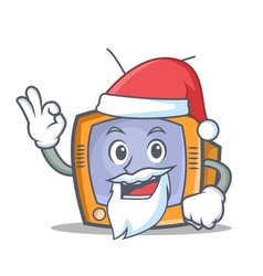 santa tv character cartoon object vector image