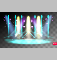 Scene illumination show on transparency background vector