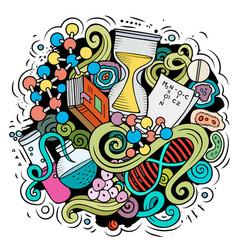 Science cartoon doodle design vector