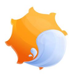 sea sun protect icon cartoon style vector image