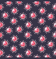 Seamless pattern with hand-drawn coronavirus vector