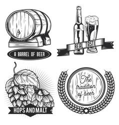set beer emblems vector image