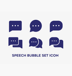 set speech bubble with different shape vector image