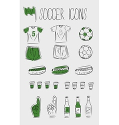 soccerfootball icons vector image