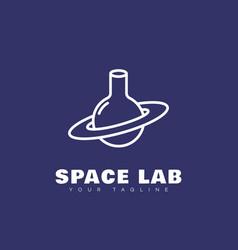 Space lab logo vector