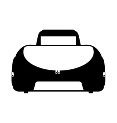 Sport bag gym icon vector