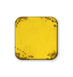 square corners yellow grunge frame vector image