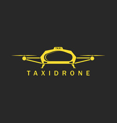 taxi done logo mockup innovation air city vector image
