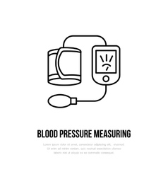 thin line icon of blood pressure vector image