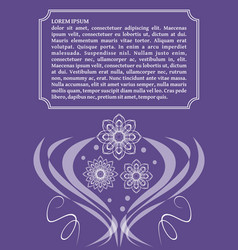 ultraviolet template with monoline white lace vector image
