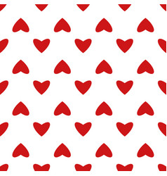 vintage seamless heart pattern cute simple style vector image
