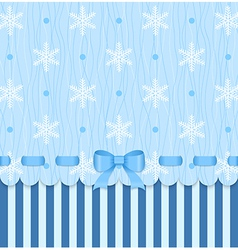Vintage winter card with bow vector image