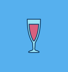 wine glass colorful icon vector image