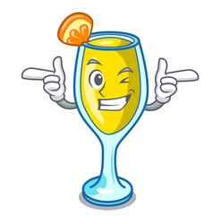 Wink mimosa character cartoon style vector