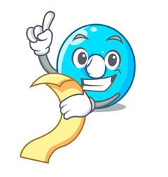 With menu cartoon the number zero color blue vector