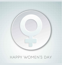 womens day greetings typographic design vector image