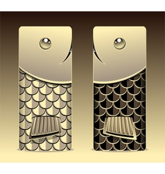 Bumper with seamless pattern fish scale gold vector