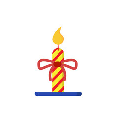 Christmas candle light stripe vector