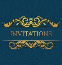 Decorative Invitations Card vector image vector image