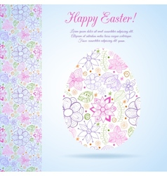 Easter egg made of flowers vector image