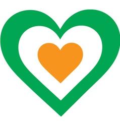 Irish Heart vector image