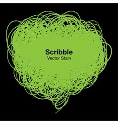 Scribble green bubble vector image vector image