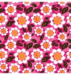 Seamless colourfull flower pattern vector image