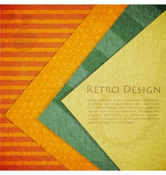 Color paper retro vector