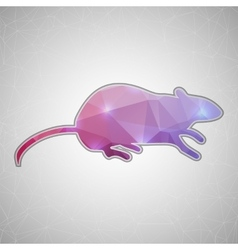 Creative concept mouse icon isolated on vector