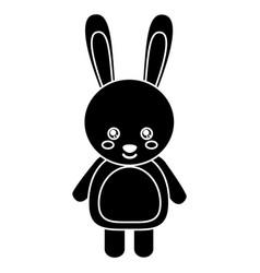 cute rabbit animal standing cartoon wildlife vector image