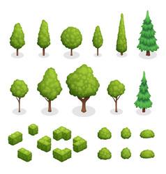 park plants isometric set vector image vector image