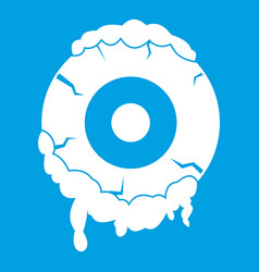 scary eyeball icon white vector image vector image