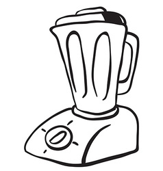 simple black and white blender vector image vector image