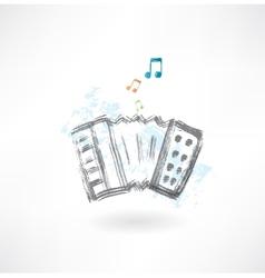 accordion grunge icon vector image vector image