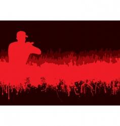 silhouette rock concert crowd vector image