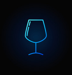 wine glass simple blue icon vector image