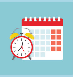 calendar and clock icon vector image