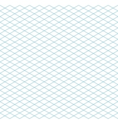 Cyan colour isometric grid seamless pattern vector image vector image