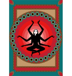 Indian woman vector image vector image