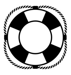 lifebuoy on a white background vector image vector image