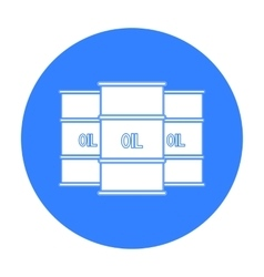 Oil barrel icon in black style isolated on white vector image vector image