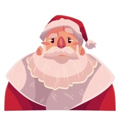 Santa Claus face angry facial expression vector image