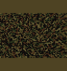 seamless forest pixel camouflage vector image
