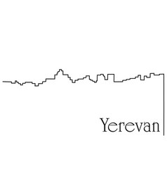 yerevan city one line drawing background vector image