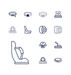 13 belt icons vector