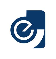 Abstract letter e logo design template elements vector