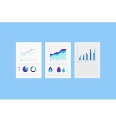 Analytic reports on the Paper sheet with set of vector image