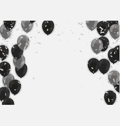 black friday banner template with black balloons vector image