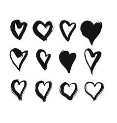 black hearts vector image