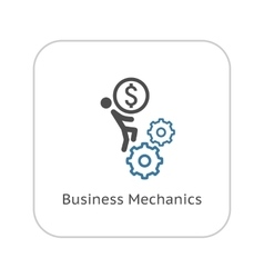 Business Mechanics Icon Flat Design vector